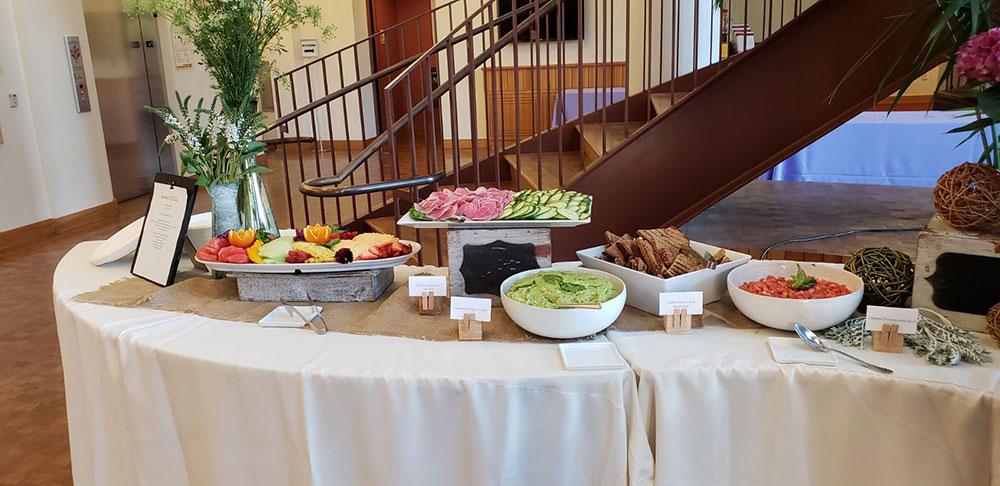 avocado toast breakfast station